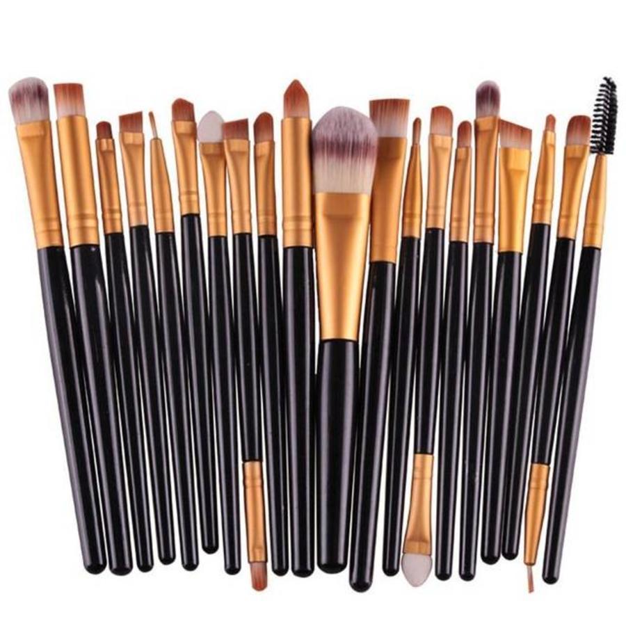 Make-up Brush Set Professional - 20 stuks - Black Gold-7
