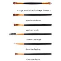 thumb-Make-up Brush Set Professional - 20 stuks - White with Black-2