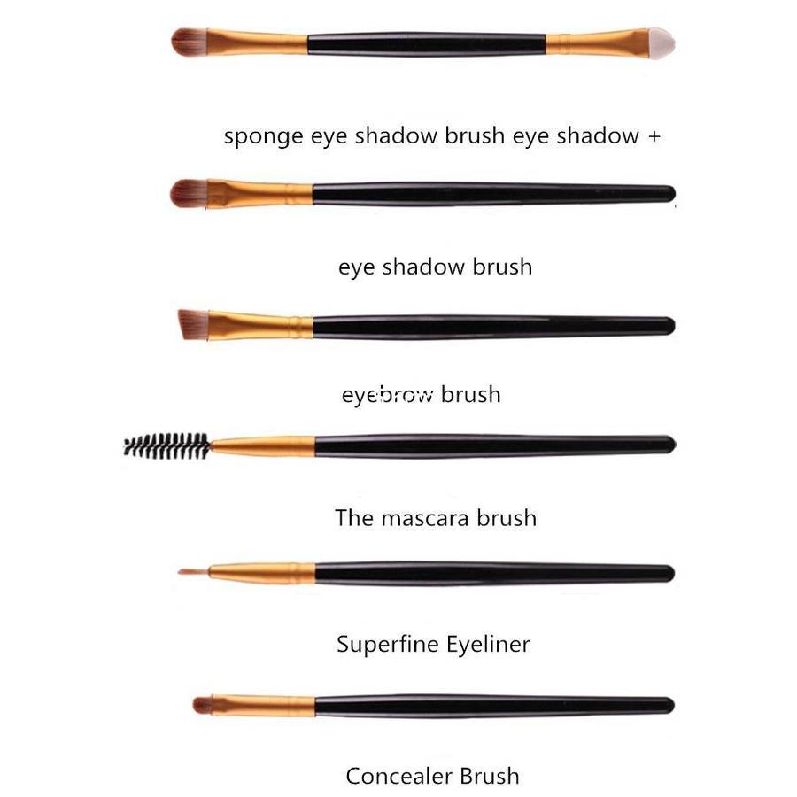 Make-up Brush Set Professional - 20 stuks - White with Black-2