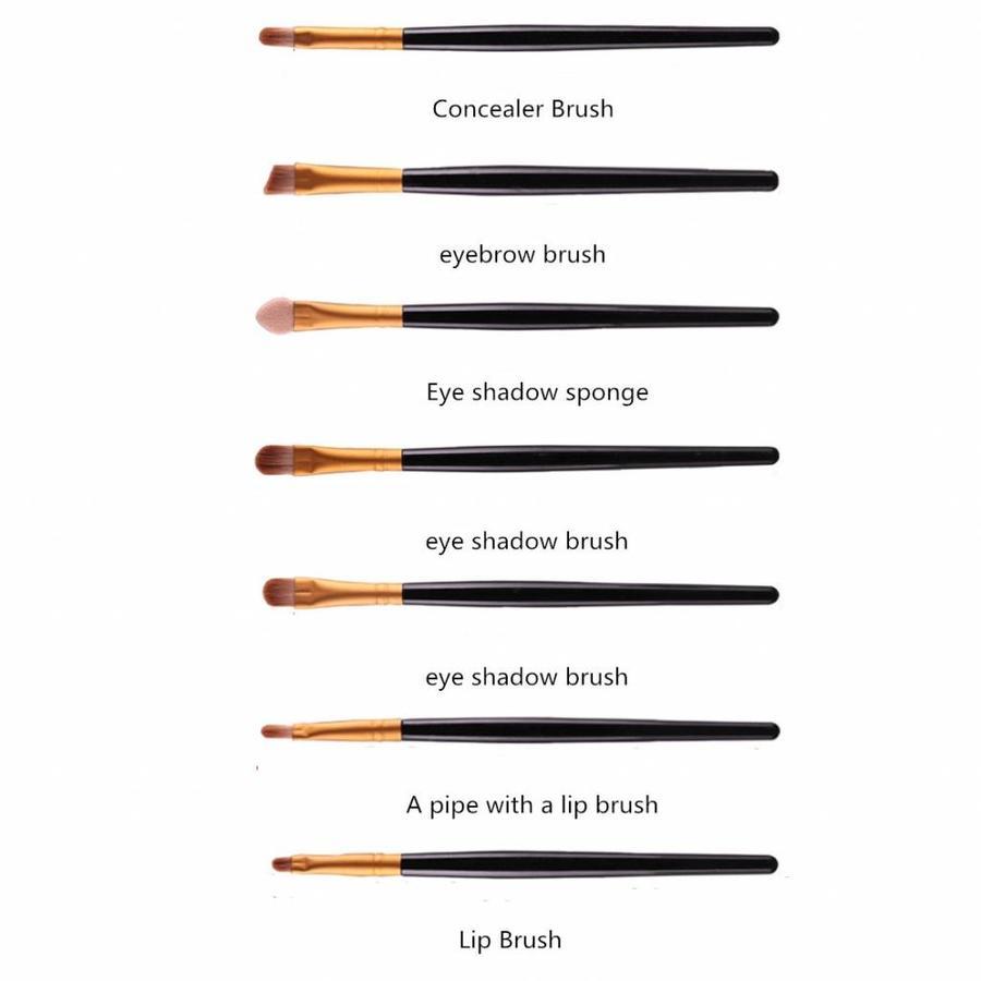 Make-up Brush Set Professional - 20 stuks - White with Black-3