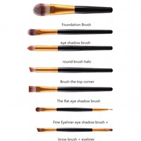 thumb-Make-up Brush Set Professional - 20 stuks - White with Black-4