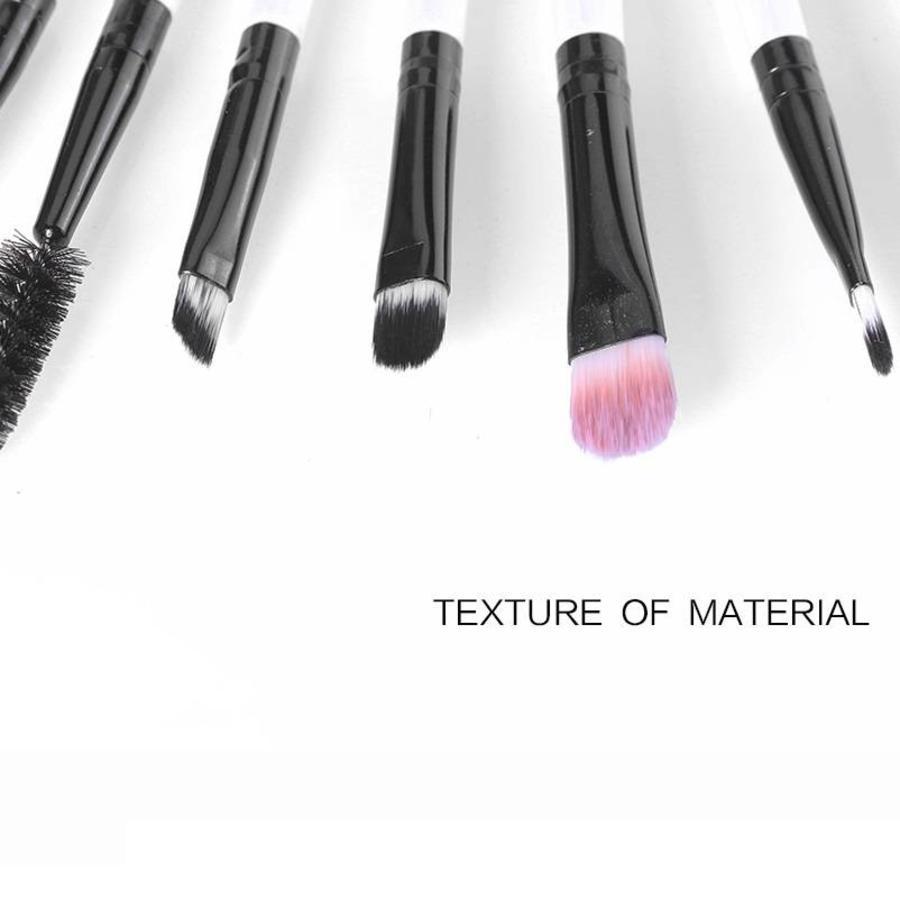 Make-up Brush Set Professional - 20 stuks - White with Black-7