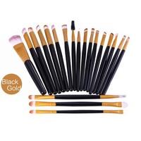 thumb-Make-up Brush Set Professional - 20 stuks - Black Gold-1