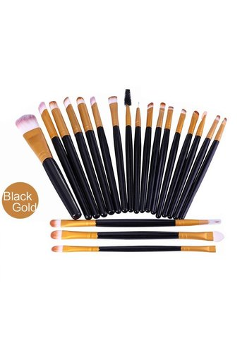 Make-up Brush Set Professional - 20 stuks - Black Gold