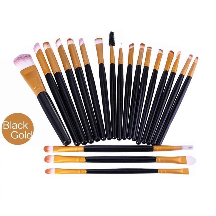 Make-up Brush Set Professional - 20 stuks - Black Gold-1