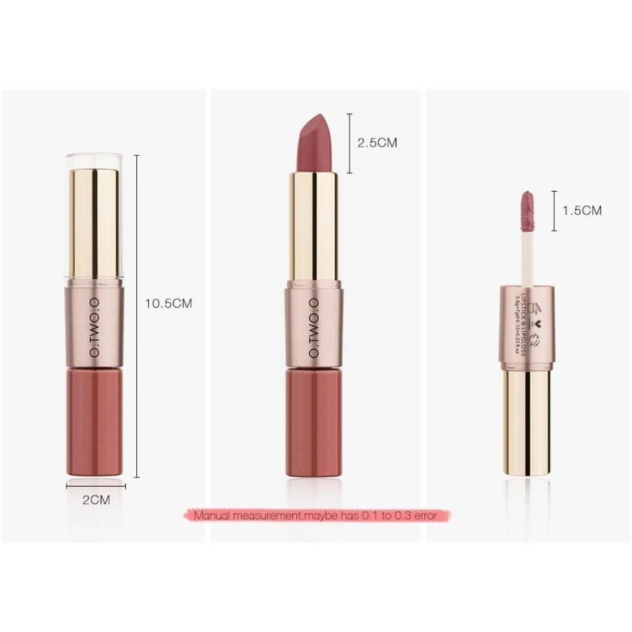 Matte Lipstick Pen & Liquid Suede Lipstick 2 in 1 - Color 0.2 Lolita II-6