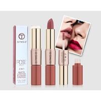 thumb-Matte Lipstick Pen & Liquid Suede Lipstick 2 in 1 - Color 0.5 Double Dare-4