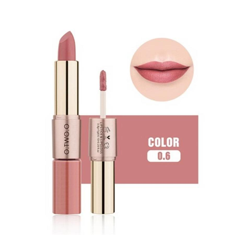 Matte Lipstick Pen & Liquid Suede Lipstick 2 in 1 - Color 0.6 Melancholia-1