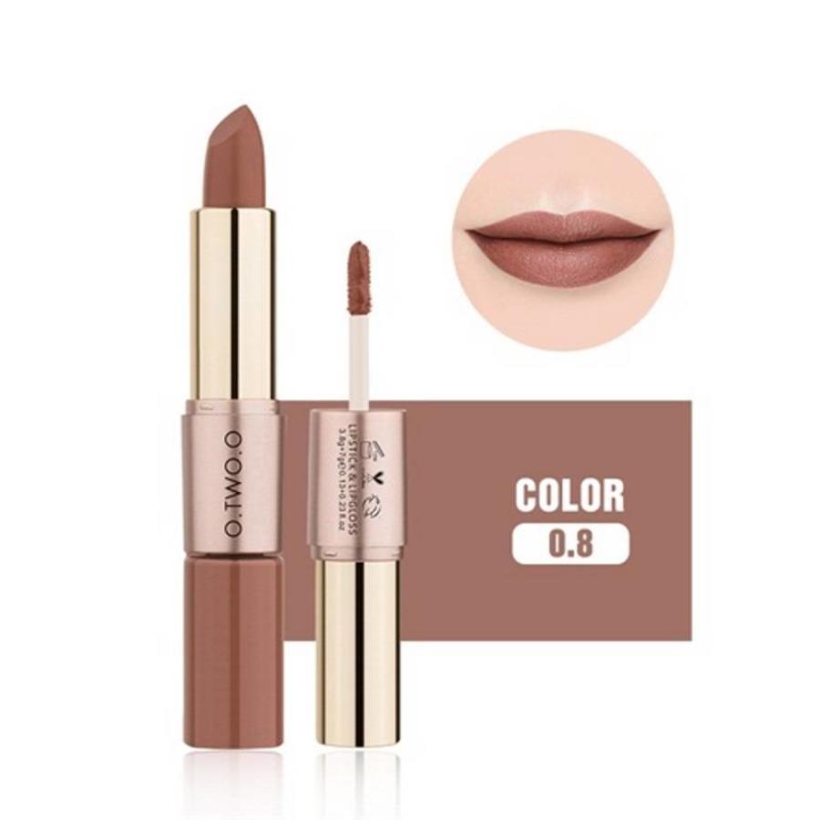 Matte Lipstick Pen & Liquid Suede Lipstick 2 in 1 - Color 0.8 Lovestick-1