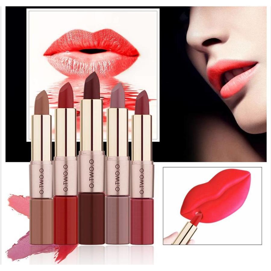 Matte Lipstick Pen & Liquid Suede Lipstick 2 in 1 - Color 1.1 Requiem-5