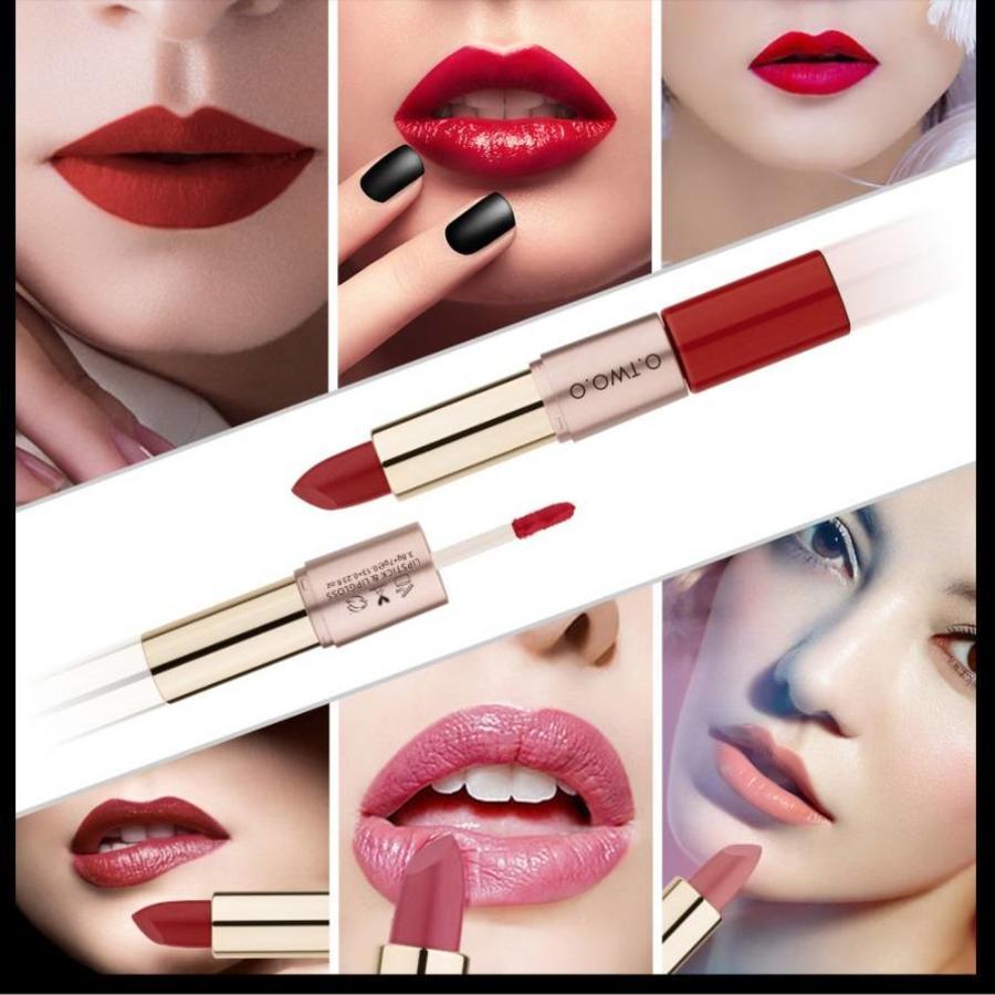 Matte Lipstick Pen & Liquid Suede Lipstick 2 in 1 - Color 1.1 Requiem-3