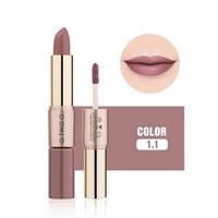 thumb-Matte Lipstick Pen & Liquid Suede Lipstick 2 in 1 - Color 1.1 Requiem-1