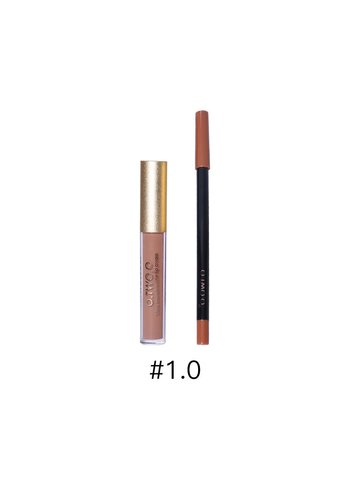 Matte Lipgloss Kit Met Lipliner - Color 1.0 Red Jujube