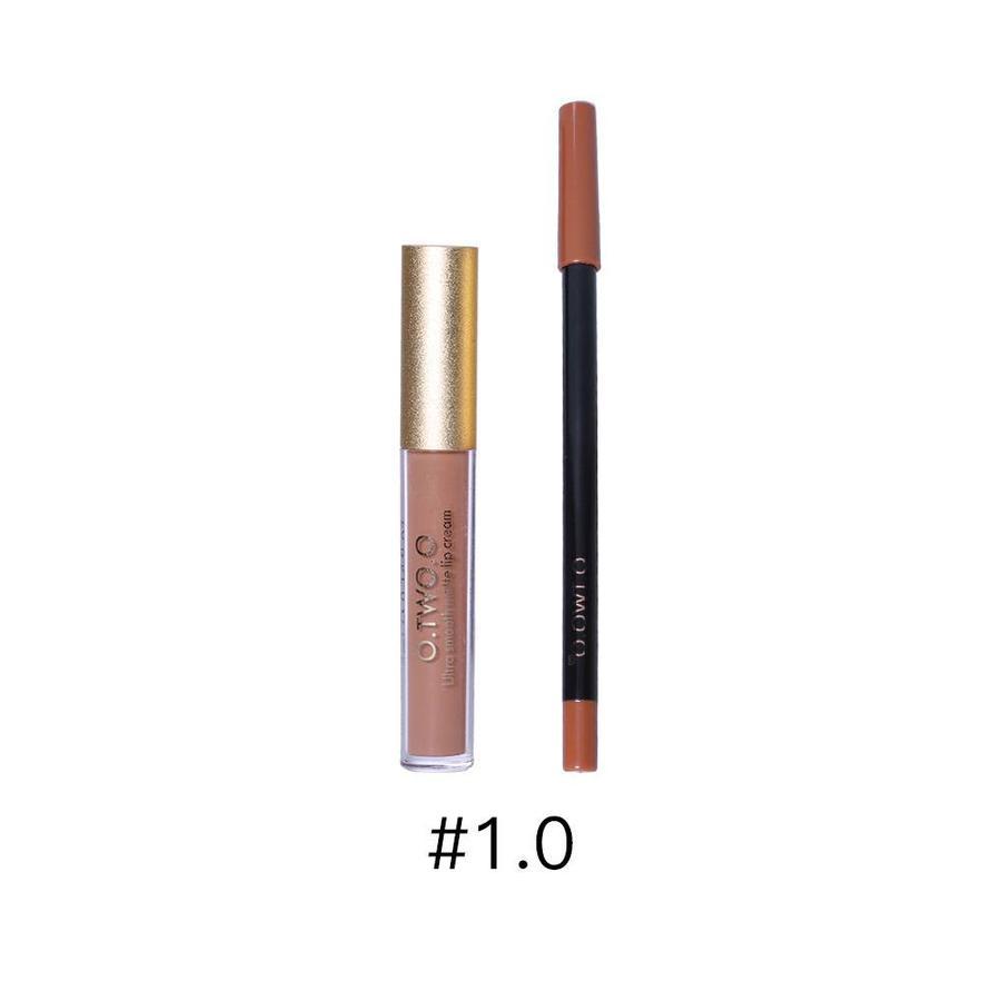 Matte Lipgloss Kit Met Lipliner - Color 1.0 Red Jujube-1