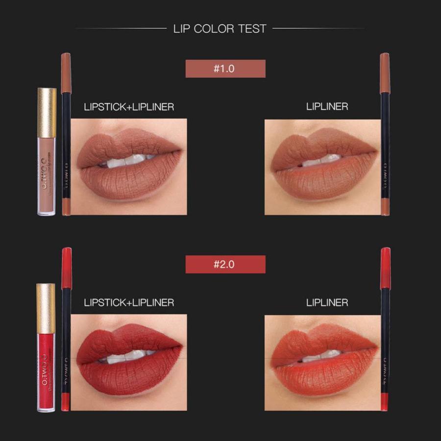 Matte Lipgloss Kit Met Lipliner - Color 1.0 Red Jujube-6