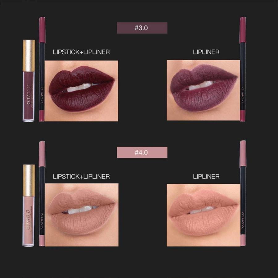 Matte Lipgloss Kit Met Lipliner - Color 3.0 Exorcism-7