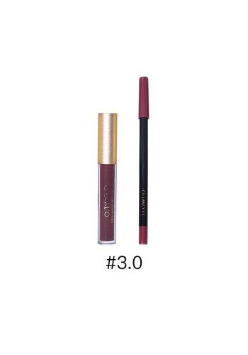 Matte Lipgloss Kit Met Lipliner - Color 3.0 Exorcism