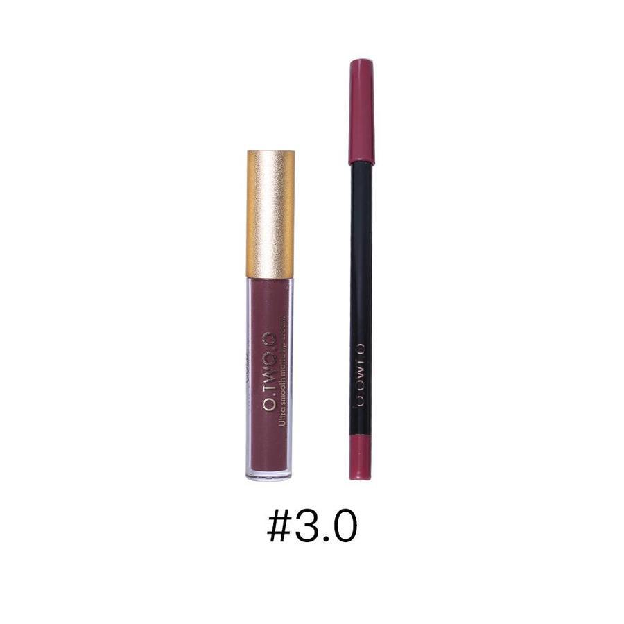 Matte Lipgloss Kit Met Lipliner - Color 3.0 Exorcism-1