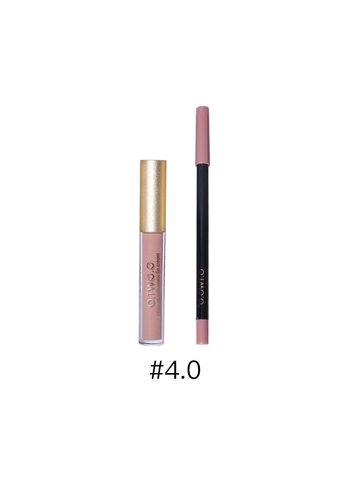 Matte Lipgloss Kit Met Lipliner - Color 4.0 Red Brown