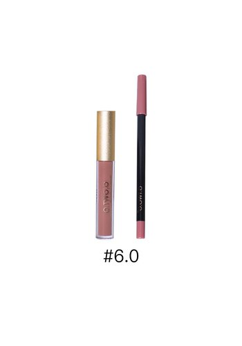Matte Lipgloss Kit Met Lipliner - Color 6.0 Deep Bean Paste