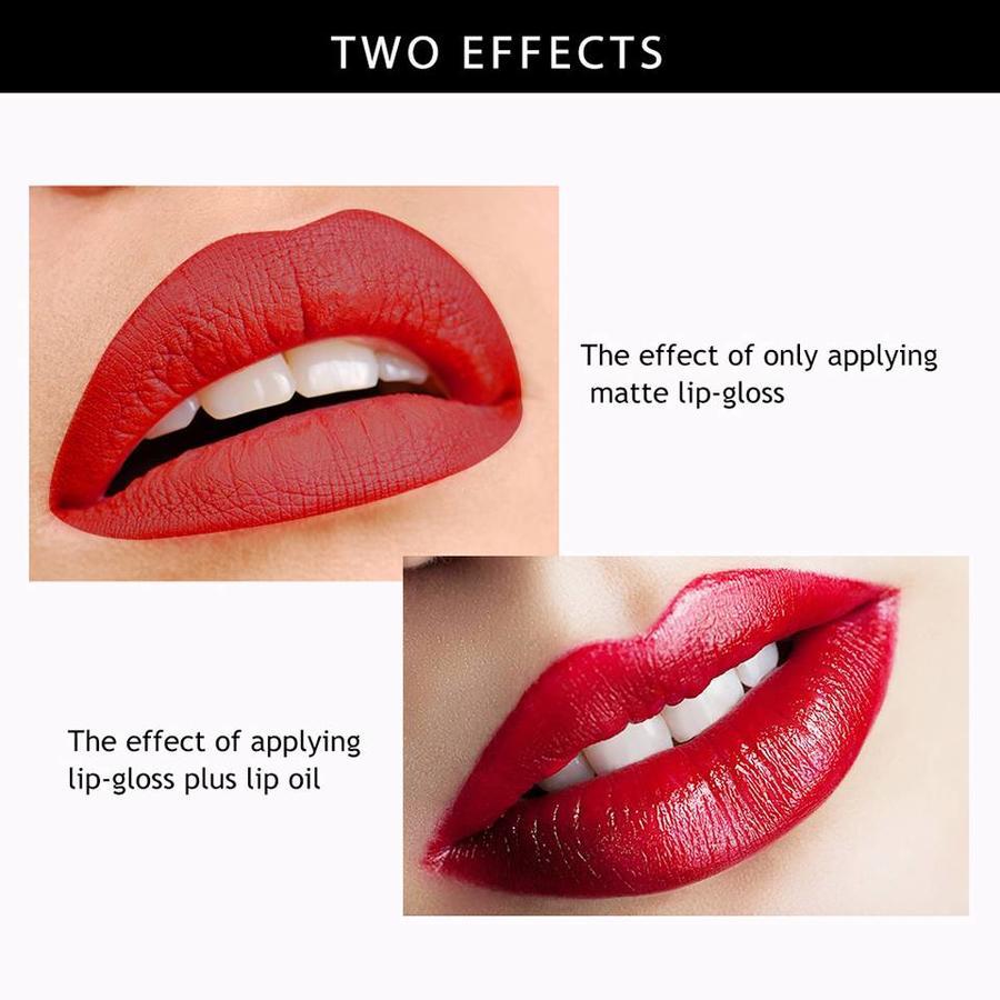 Matte Lipgloss & Lip Oil Set - Colorset #01-2