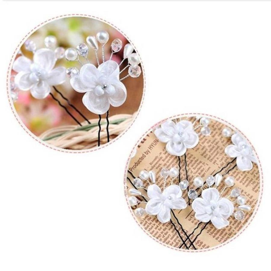 Hairpin - Elegance Flowers Strass & Pearls-5