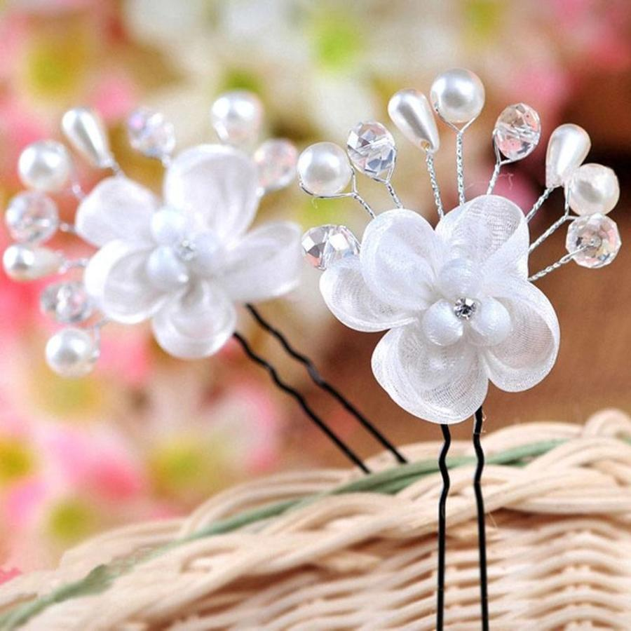 Hairpin - Elegance Flowers Strass & Pearls-3