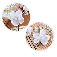 thumb-SALE - Hairpin - Elegance Flowers Strass & Pearls - 5 Stuks-7
