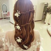 thumb-SALE - Hairpin - Elegance Flowers Strass & Pearls - 5 Stuks-2
