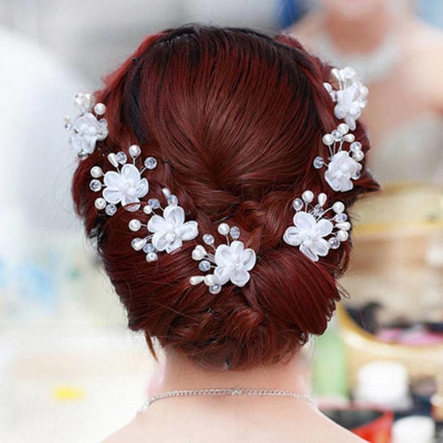 SALE - Hairpin - Elegance Flowers Strass & Pearls - 5 Stuks-4