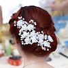 SALE - Hairpin - Elegance Flowers Strass & Pearls - 5 Stuks