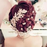 thumb-Hairpin - Eye Catcher Flowers & Pearls - 5 Stuks-7