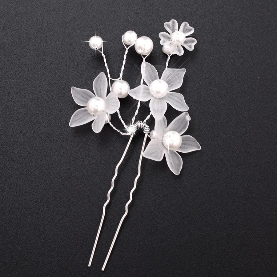 Hairpin - Eye Catcher Flowers & Pearls - 5 Stuks-5