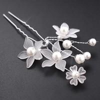 thumb-Hairpin - Eye Catcher Flowers & Pearls - 5 Stuks-6