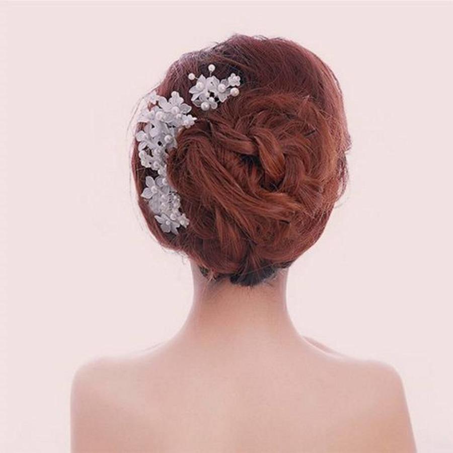 Hairpin - Eye Catcher Flowers & Pearls - 5 Stuks-2