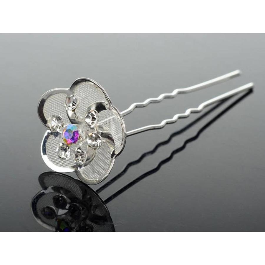 Hairpin - Zilverkleurig met Strass Kristallen - 5 Stuks-1