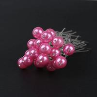 thumb-Hairpin - Parel met Diamantje Roze - 5 Stuks-2