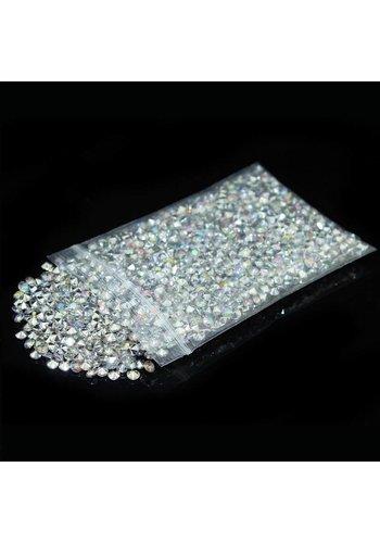 Decoratie Steentjes - Diamantjes - Zilver - 1000 stuks