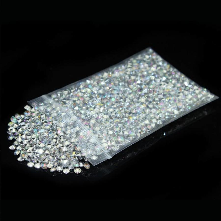 Decoratie Steentjes - Diamantjes - Zilver - 1000 stuks-1
