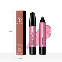 thumb-High Shimmer Liquid Lip Gloss- Color 04-6