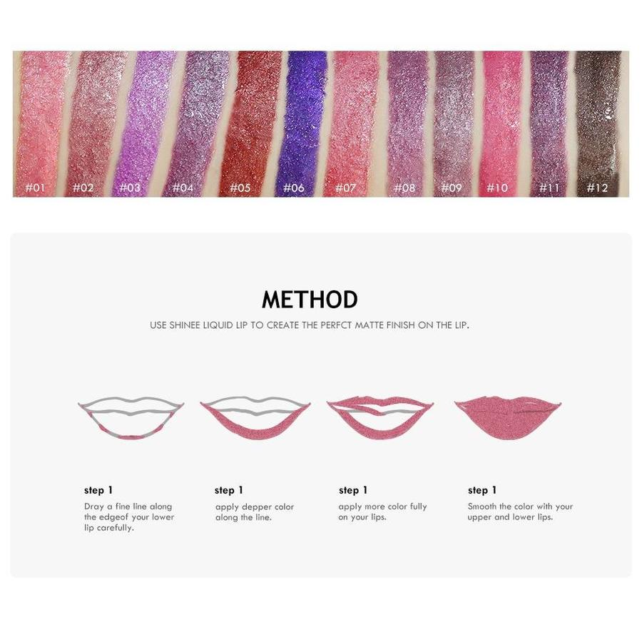 High Shimmer Liquid Lip Gloss- Color 12-3