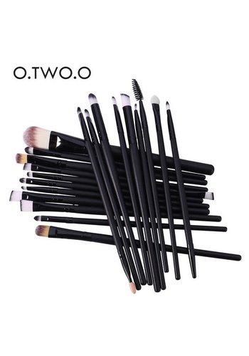 Make-up Brush Set Professional - 20 stuks - Black
