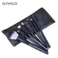 thumb-Make-up Brush Set Professional - 7 stuks -  Inclusief Tasje-1