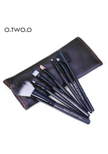 Make-up Brush Set Professional - 7 stuks -  Inclusief Tasje