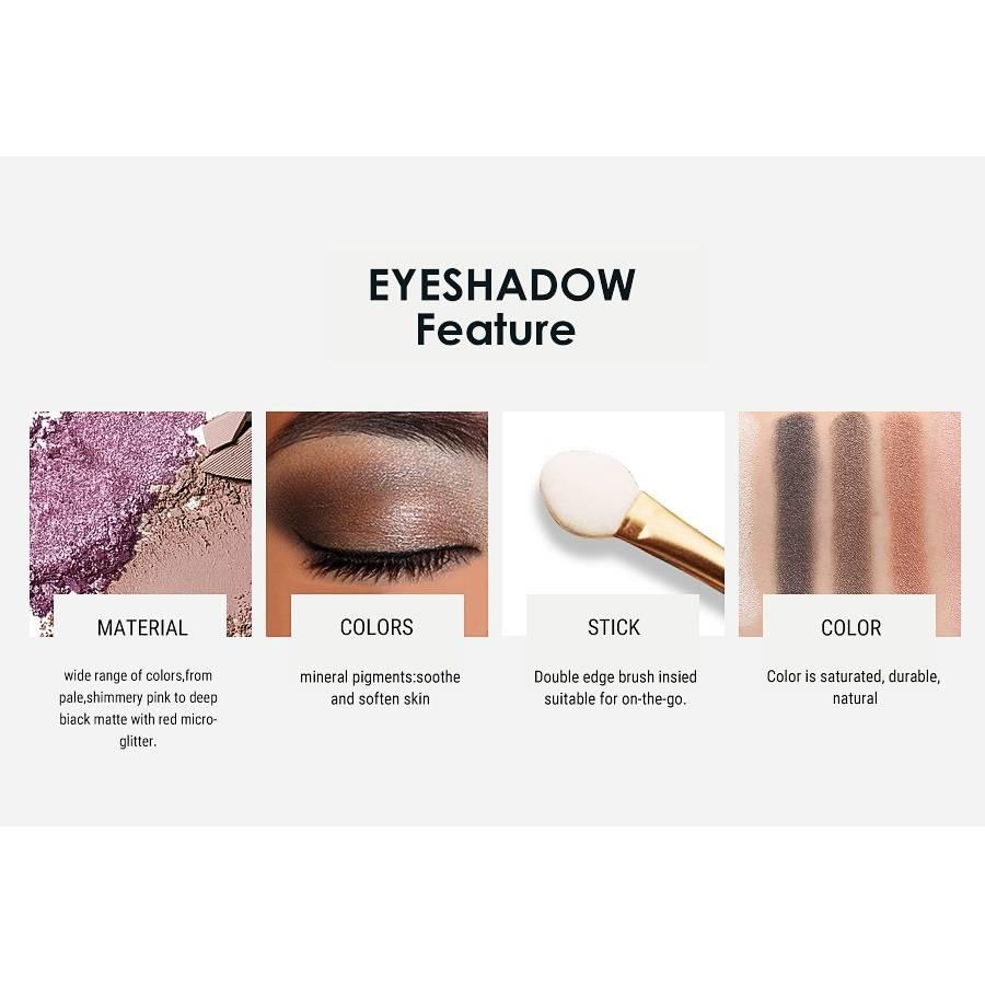 Palette Oogschaduw Make-Up Set 9 kleuren - Color 03-6