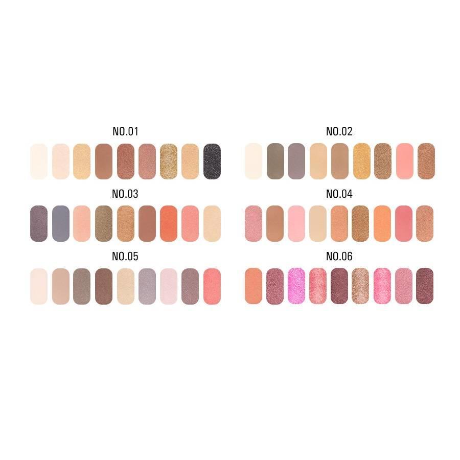 Palette Oogschaduw Make-Up Set 9 kleuren - Color 04-2