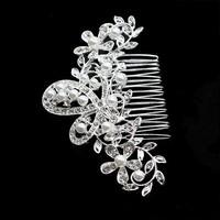 thumb-Haarkam met ivoorkleurige parels en strass kristallen-2