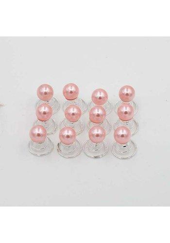 Parel Curlies - Roze - 6 stuks