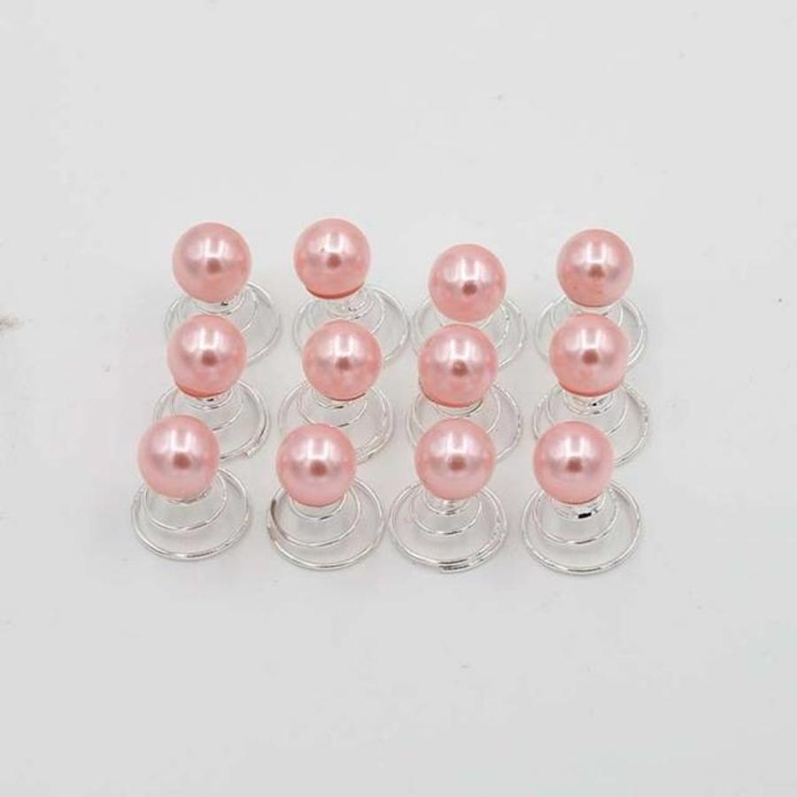 Parel Curlies - Roze - 6 stuks-1