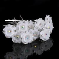 Hairpins – Fonkelende Bloem - Wit - 5 stuks